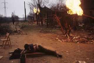 """Грозный. 12 января 1995 года. Начало """"первой чеченской"""" © Жан-Поль Гийото"""
