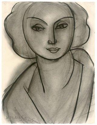 Анри Матисс. Женский портрет (Л.Н. Делекторская). 1945