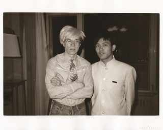 Andy Warhol and Bellboy, 1982