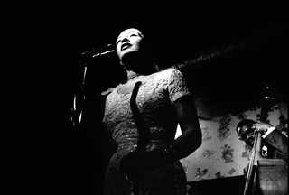 Billie Holiday performing at Sugar Hill. Jerry Dantzic