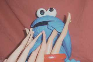 Cookie Monster и ножки