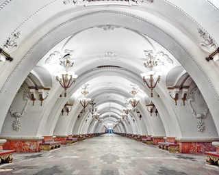 © David Burdeny, станция метро «Арбатская», Москва