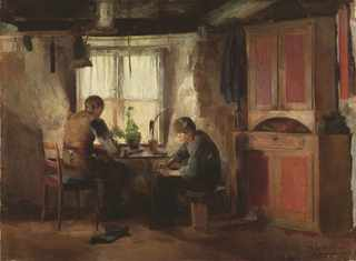 A Country Cobbler (Harriet Backer)
