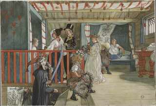 A Day of Celebration. From A Home (Carl Larsson)