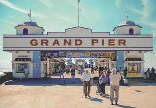 Grand Pier in Weston-super-Mare, England