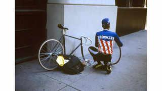 © Gregoire Alessandrini, 1993 New York bike messenger