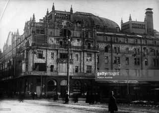 Гостиница Метрополь со следами стрельбы