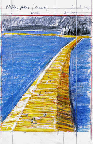 Floating Piers (Project)| Drawing 2014 | Photo: André Grossmann | © Christo
