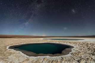 THIRD PLACE WINNER, NATURE | Lagunas Baltinache (Atacama Desert) | Photo and caption by Victor Lima