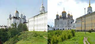 Успенский собор с восточной стороны, Владимир. 1910-2009 | © В. Ратников / www.prokudin-gorsky.org