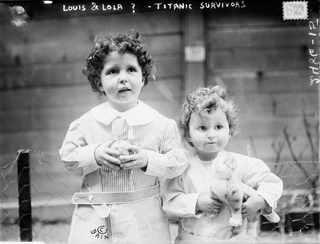 Апрель 1912, Неизвестные дети, выжившие в катастрофе. Позднее были идентифицированы как Michel и Edmond Navratil
