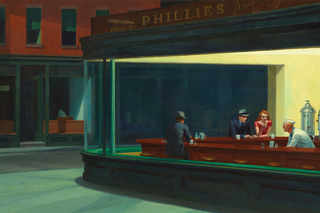 "Edward Hopper ""Nighthawks"""