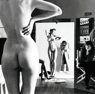 Artnet Self Portrait with Wife and Models, © Helmut Newton