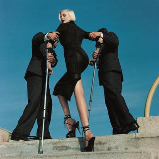 Auermann Cindy Lindbergh, Vogue Italia © Helmut Newton