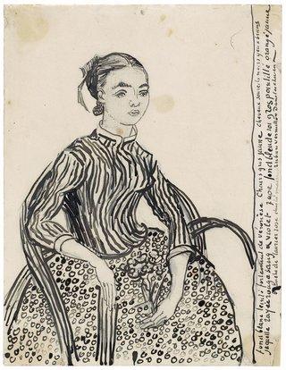 Винсент ван Гог. Портрет молодой девушки. 1888